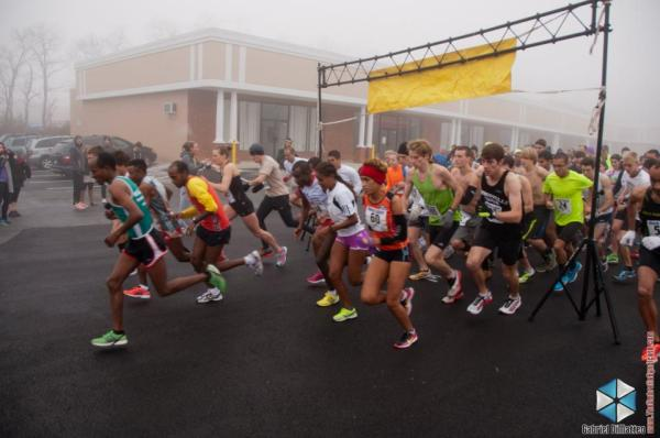 The start of Running Maryland's/The Runaround's ManCave 5k in Towson, MD.